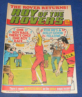 Roy Of The Rovers Comic 27Th March 1982 Simon Stainrod Of Q.p.r.