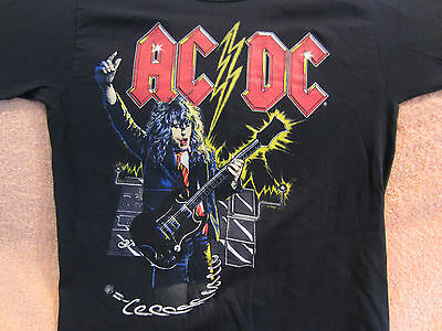 Vintage AC/DC Concert Shirt 1986 Original True Vintage Who Made Who
