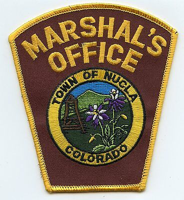 NUCLA COLORADO CO TOWN MARSHAL police PATCH