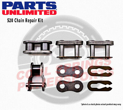 Parts Unlimited 520 Chain Repair Kit Chain Master Link Clips