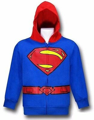 Superman Costume Sweatshirt Hoodie - Toddler ( 3T & 4T )