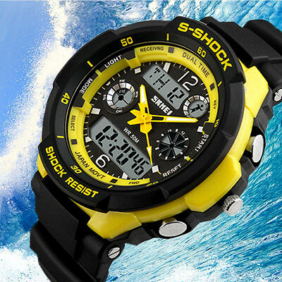 Luminous Men's Sports Watch LED Analog Digital Waterproof Wrist Watch
