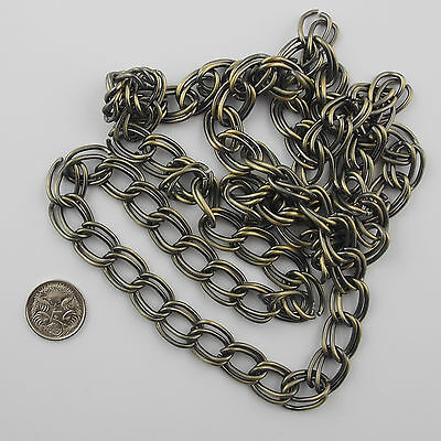 Chain 1 metre Double Twisted Link 16 x 12 mm Variations Boho Gold or Silver New