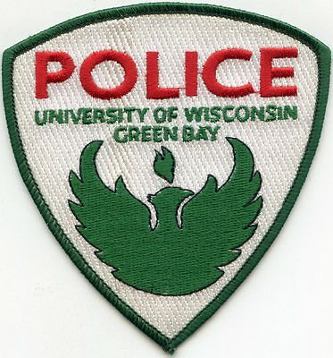 University Of Wisconsin Wi Green Bay Police Patch