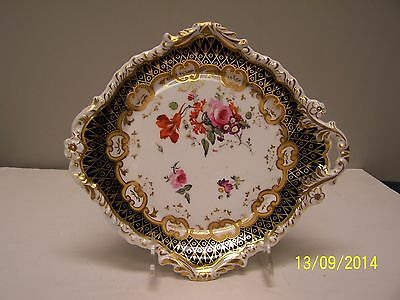 Ridgway Staffordshire Cobalt - Floral - -Handled Nappy Dish