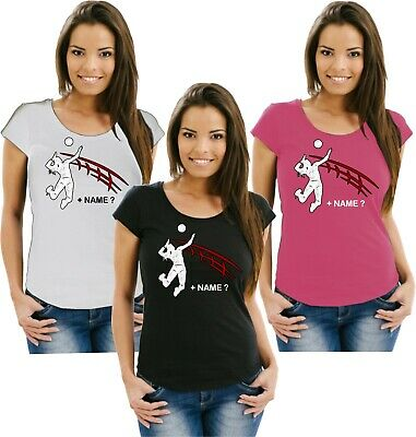 Volleyball Damenshirt Girlieshirt Damen T-Shirt Verein Turnier Wettkampf Ball 12