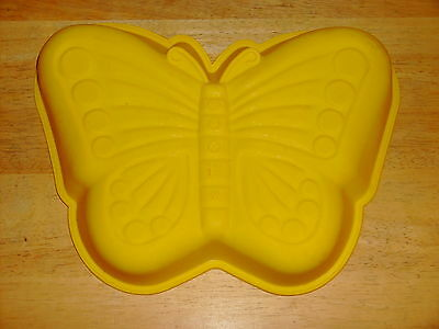"Silicone Baking Mold Cake Pan ~ Butterfly  12.5"" x 9"""