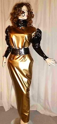 Lackkleid,Transvestit,Zofenkleid, Shiny,WetlookMaiddress Vinyldress,Sissydress,C