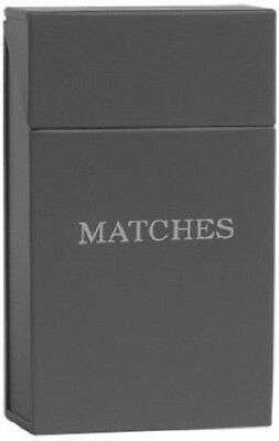 Garden Trading Match Hinged Box Holder Fire Safety Holds Standard Bpx in Grey