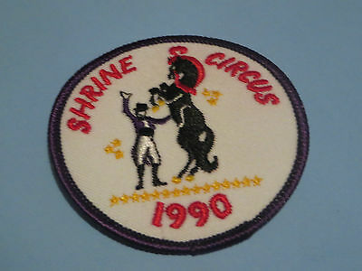 PATCH Badge 1990 SHRINE CIRCUS  Shriners  HORSE TRAINER