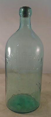 OLD vintage antique MINNEHAHA natural MINERAL spring water EMBOSSED INDIAN 12""