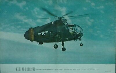 1946 Kellett Xr-8 Helicopter Air Trails Poster