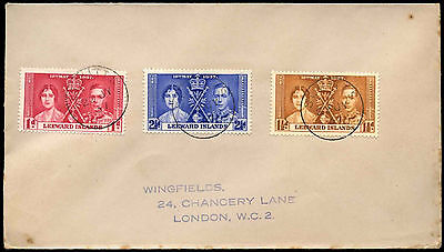 Leeward Islands 1937 Coronation KGVI Cover #C35265