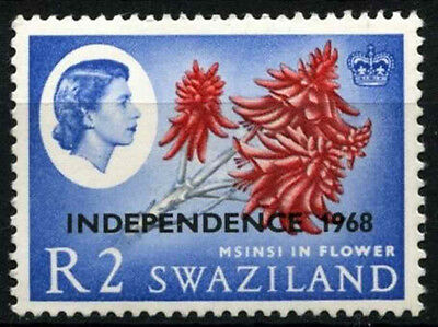 Swaziland 1968 SG#160, 2R Independence FLowers Wmk Sideways MH #D25413