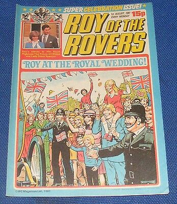 Roy Of The Rovers Comic 1St August 1981 Sign Please - Alan Rough
