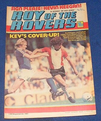 Roy Of The Rovers Comic 7Th November 1981 Sign Please - Kevin Keegan