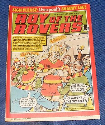 Roy Of The Rovers Comic 14Th November 1981 Sign Please - Sammy Lee