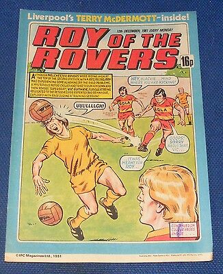 Roy Of The Rovers Comic 12Th December 1981 Sign Please - Joe Waters