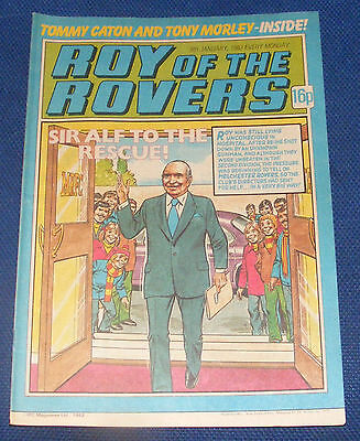 Roy Of The Rovers Comic 9Th January 1982 Sign Please - Tommy Caton
