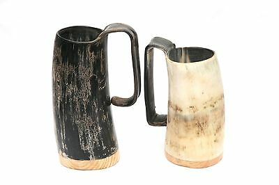 Ox Horn Beer Tankard Soldiers Mug by Abbeyhorn UK MADE as used Game of Thrones