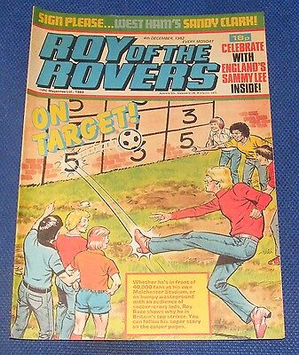 Roy Of The Rovers Comic 4Th December 1982 Sign Please - Sandy Clark