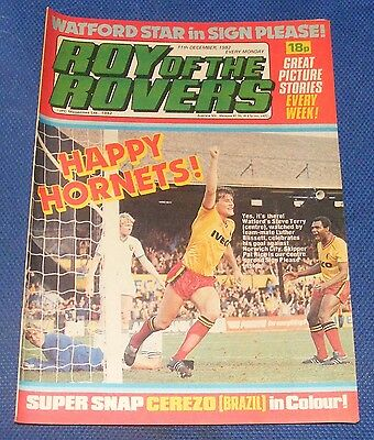 Roy Of The Rovers Comic 11Th December 1982 Sign Please - Pat Rice
