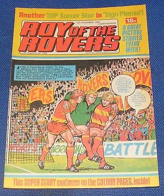 Roy Of The Rovers Comic 6Th November 1982  Sign Please Gary Bannister