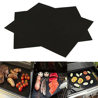33 x 40cm BBQ Grill Mat Barbecue Baking Liner Reusable Teflon Cooking Sheet Tool