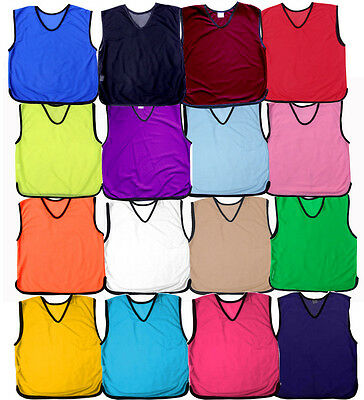 1 X Football Mesh Sports Training Bibs Best Quality Rugby Hockey Netball Running