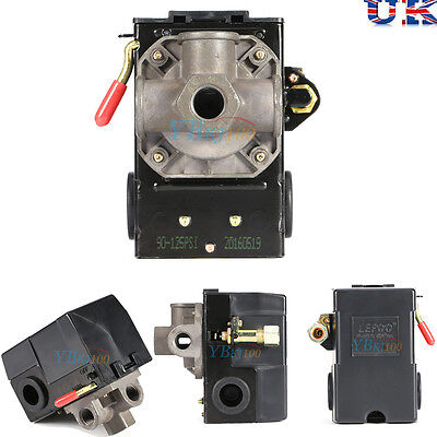 Pressure Control Switch Valve For Air Compressor Replace 1 Port Max.125 PSI Tool