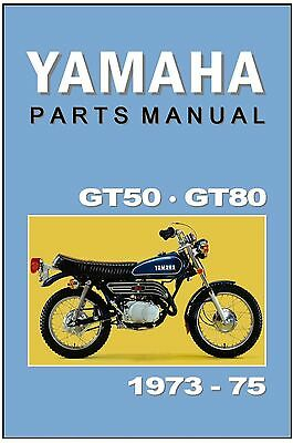 YAMAHA Parts Manual GT80 & GT50 1973 1974 Replacement Spares Catalog List