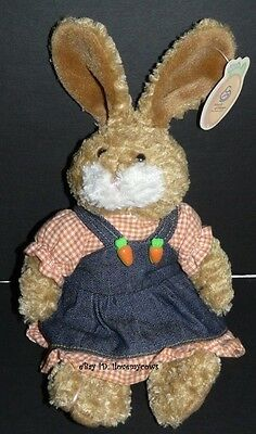 March of Dimes Peaches Easter 2003 Rabbit Plush Beanbag Stuffed Animal Bunny Tag
