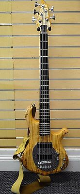 *Traben Neo Limited 5 String Natural Wood Electric Bass Guitar Free Shipping