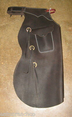 Working Cowboy Custom Made Bell Batwing Bell Chaps Chap Texas w Pocket