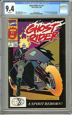 Ghost Rider V2 #1 CGC 9.4 White Pages 0285220027