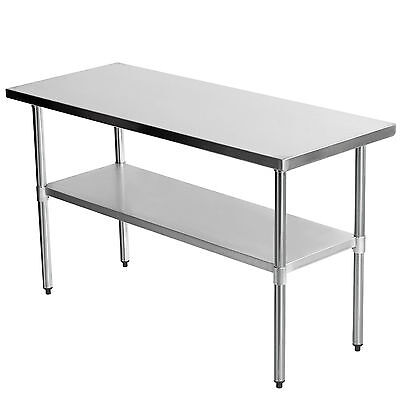 """60"""" x 24"""" Commercial Stainless Steel Work Bench Kitchen Catering Table 5x2FT New"""