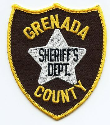 old vintage GRENADA COUNTY MISSISSIPPI MS SHERIFF POLICE PATCH