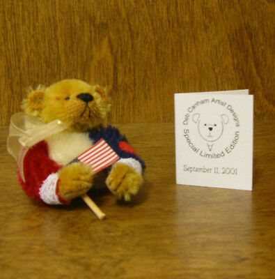 DEB CANHAM Artist Designs Sept 11th, 2001 BEAR PIN  NEW From Retail Store 2.5""