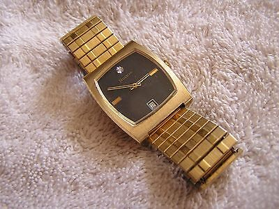 Vintage Bulova N4 Watch Black Dial Date 17 Jewels 11 AOCD