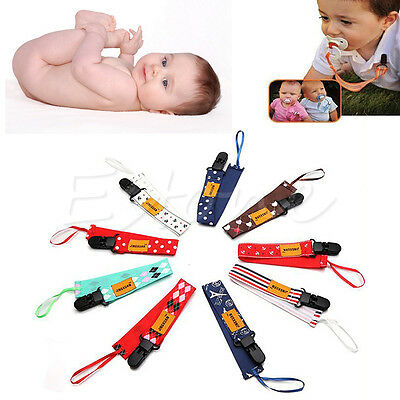 Baby Girl Boy Dummy Pacifier Soother Nipple Leash Strap Chain Clip Holder Gifts