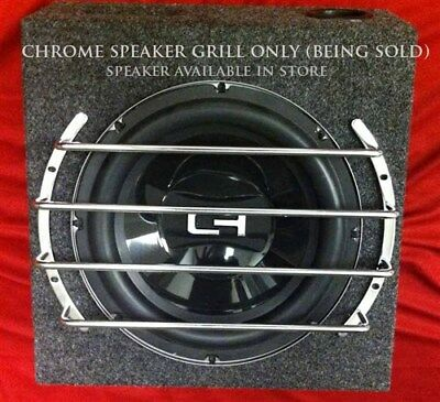 12 Inch CHROME Speaker Grill - Sub Woofer Cover Bar Grille Guard