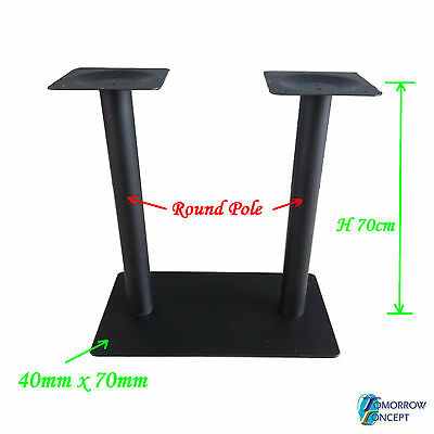 Cast Iron Rectanglar 40 x 70cm, Round Pole,  Restaurant Cafe Bar Table Base