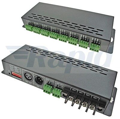 LED Supplies DMX Controller Constant Voltage 12VDC-24VDC 24 Chan x 3A 72A Max