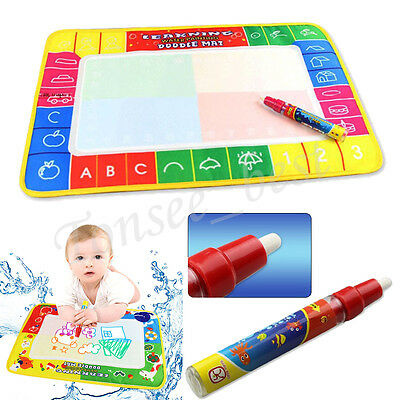 Water Drawing Painting Writing Cloth Mat Board Magic Pen Doodle Kids Baby Toy