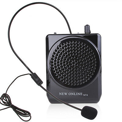 Portable N74 Voice Amplifier for Teaching Guiding Speaker + Headset Microphone