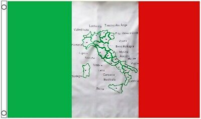 Italy With Map 5'x3' Imported Flag !