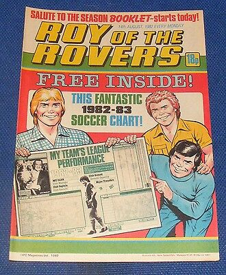 Roy Of The Rovers Comic 14Th August 1982  Sign Please David Narey