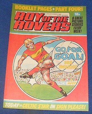 Roy Of The Rovers Comic 4Th September 1982  Sign Please Tommy Burns