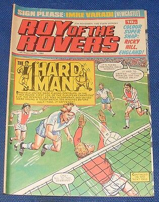 Roy Of The Rovers Comic 20Th November 1982  Sign Please Imre Varadi