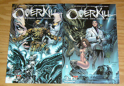 Overkill: Witchblade/Aliens/Darkness/Predator #1-2 VF/NM complete series 2000